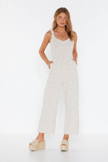 Womens Apricot Daisy For You Floral Jumpsuit