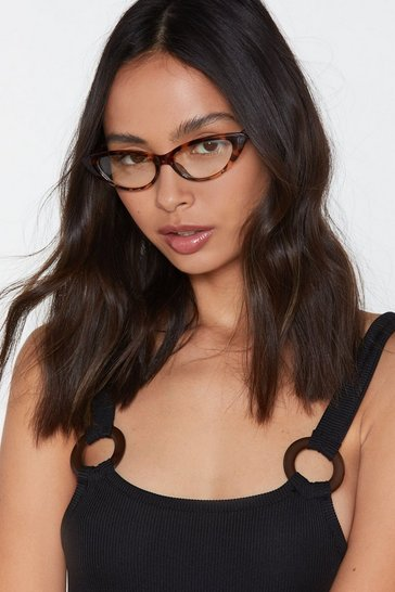 Womens Brown Cat See You Tortoiseshell Glasses