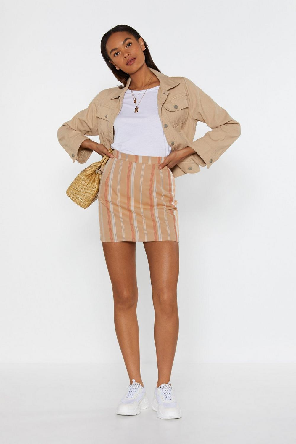 The Finish Line Striped Mini Skirt by Nasty Gal