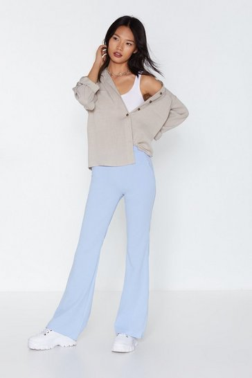 Womens Blue That Certain Flare Tailored Pants