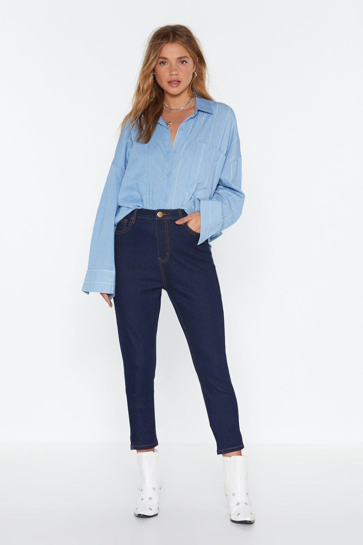 High Waist Skinny Jeans by Nasty Gal