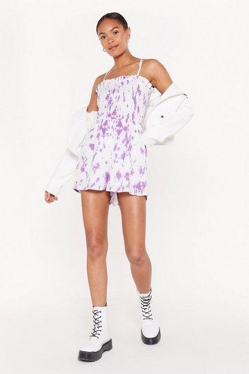 Womens Lilac Do or Tie Dye Romper