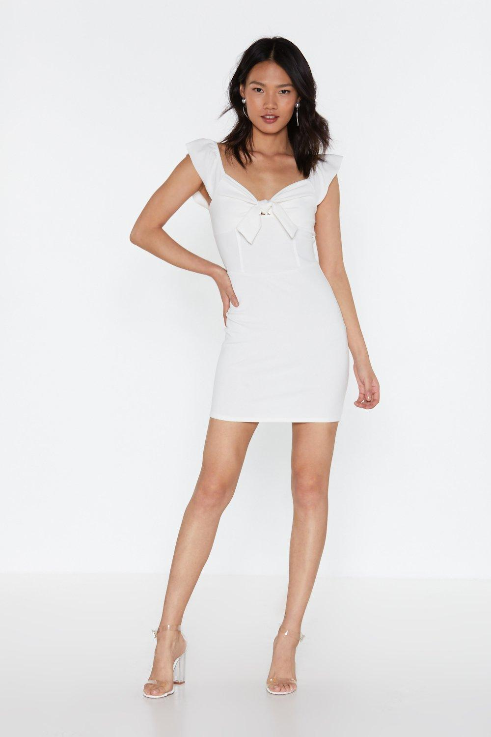 Knot To Worry Faux Mink Mini Dress by Nasty Gal