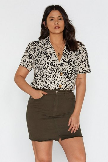 Womens Khaki Fray to the Rhythm Denim Mini Skirt