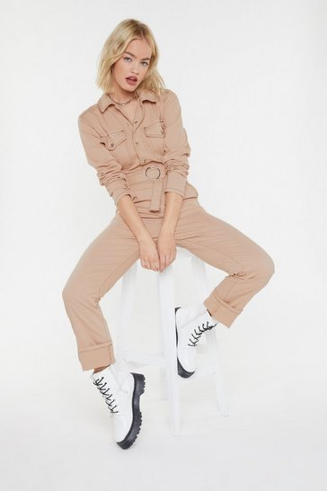 Womens Sand A Total Stitchfest Boilersuit