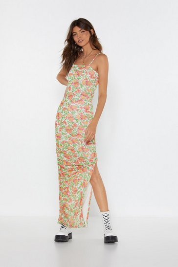 Womens Red Be-leaf in Yourself Floral Maxi Dress