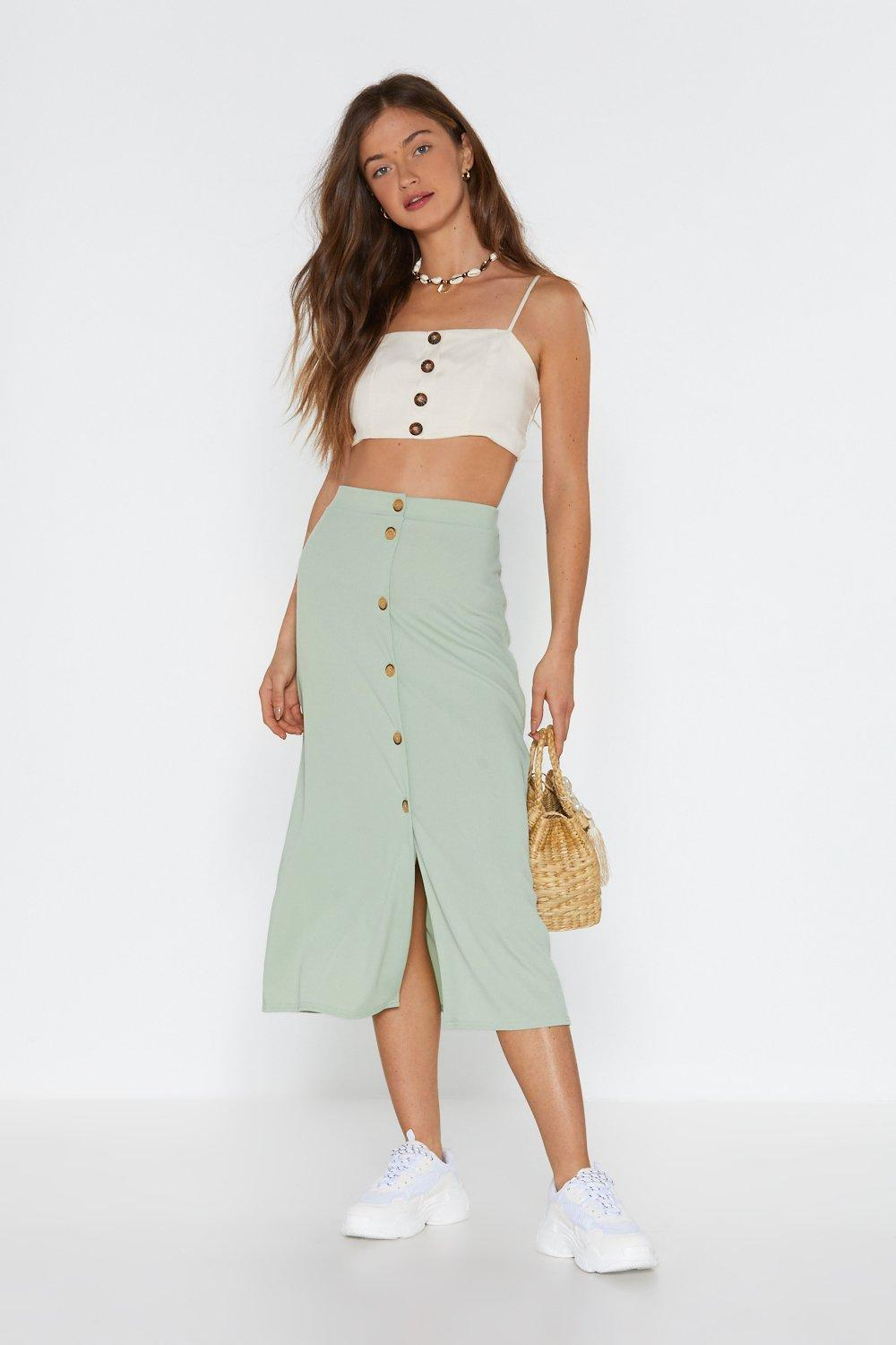 outlet online latest top-rated official Button Your Marks Midi Skirt | Shop Clothes at Nasty Gal!
