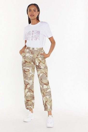 Womens Sand Camo Around Anytime Cargo Pants