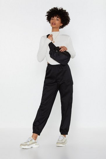 Womens Black Blast From the Elast Cargo Pants