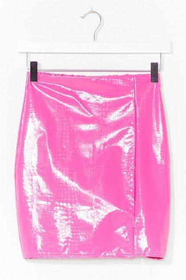 Pink Vinyl Chance Mini Skirt