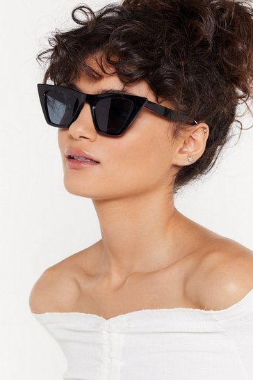 Womens Black Cat Eye Sunglasses