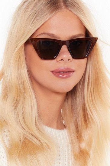 Brown Pretty Damn Pur-fect Cat-Eye Sunglasses