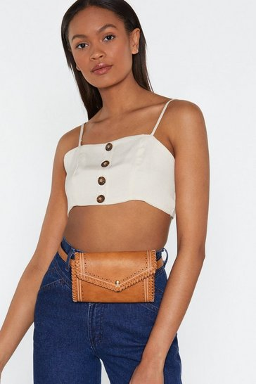 Womens Tan WANT Whip My Hair Belt Bag