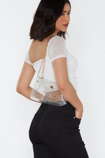 Womens WANT I See You Clear Shoulder Bag