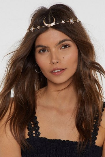 Womens Gold Queen of the Universe Star and Moon Headband
