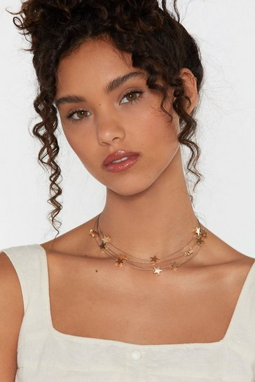 Womens Gold Orion's Belt Star Choker Necklace