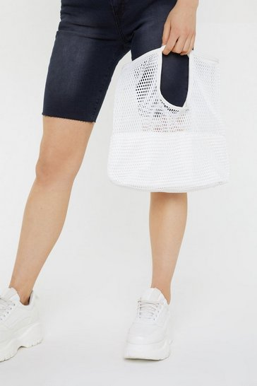 Womens Sand WANT Grocery Shopping Mesh Bag