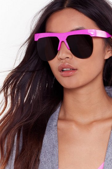Womens Pink Half the World Away Half-Frame Sunglasses