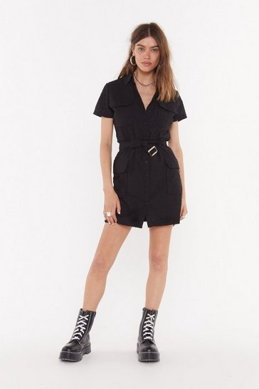 Womens Black The Utility to Do Better Broderie Dress