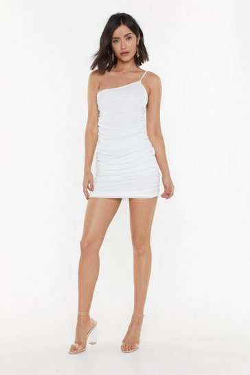 Womens Ivory If You Had My Love Ruched One Shoulder Dress