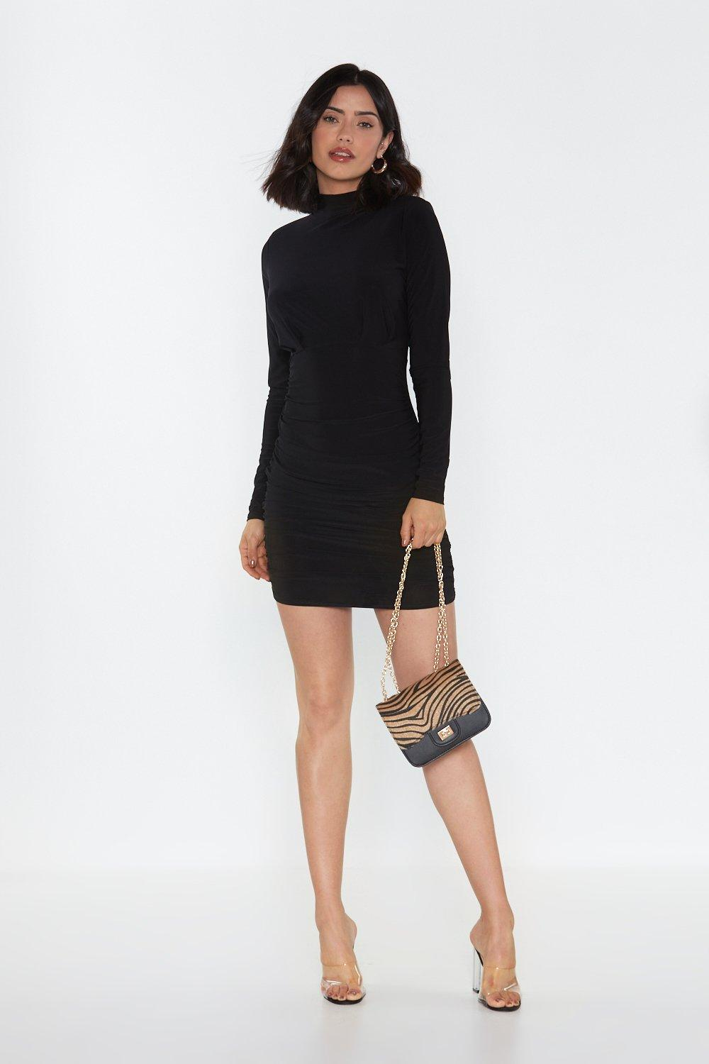 Shoulder Pad Gathered Mini Dress by Nasty Gal