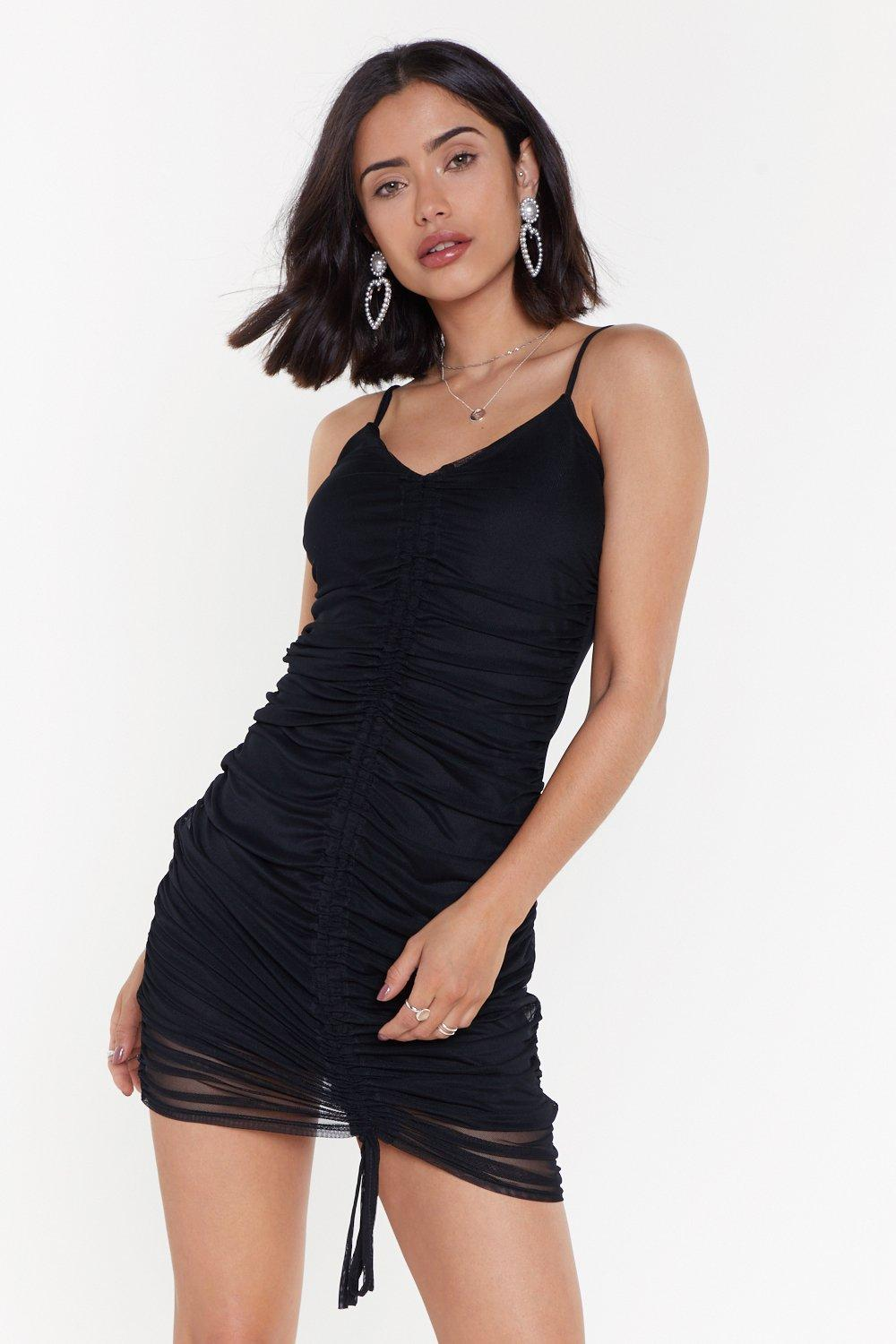 Gatherred Front Mesh Dress by Nasty Gal