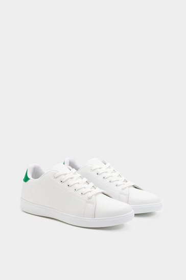 Womens Green Lace Up Trainers