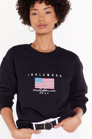 Black Welcome to Hotel California Graphic Sweatshirt