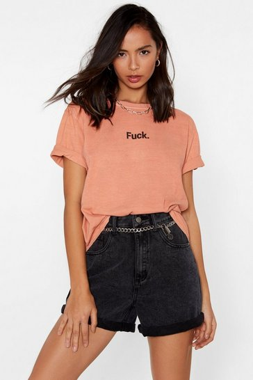 Womens Coral Fuck Relaxed Tee