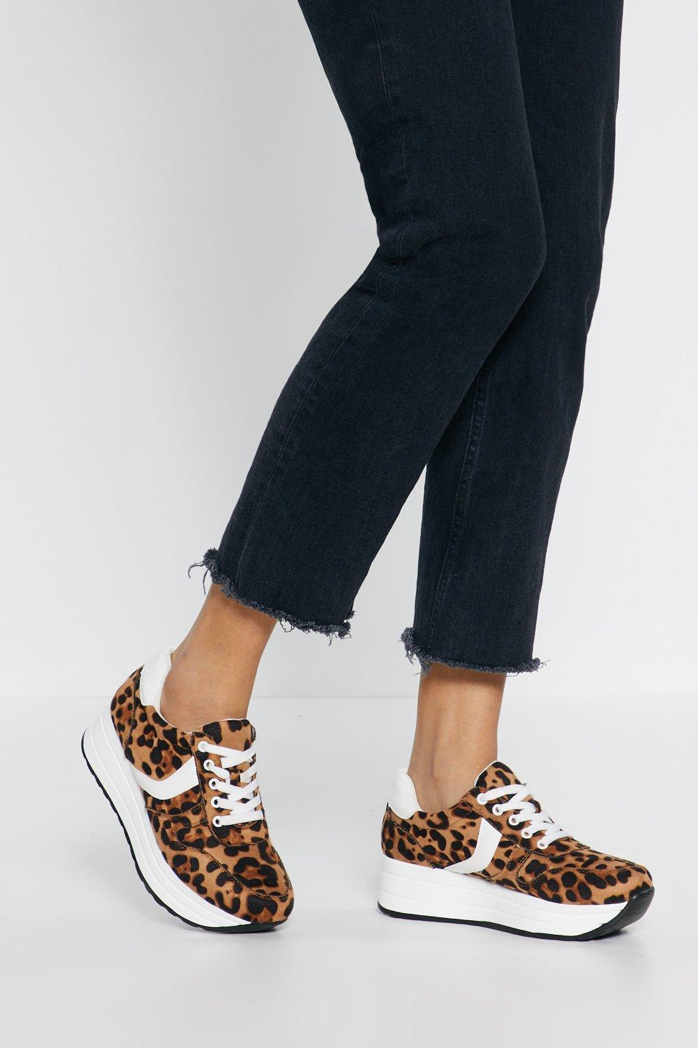 cd6b2e955c8 Leopard Print Flatform Sneakers | Shop Clothes at Nasty Gal!