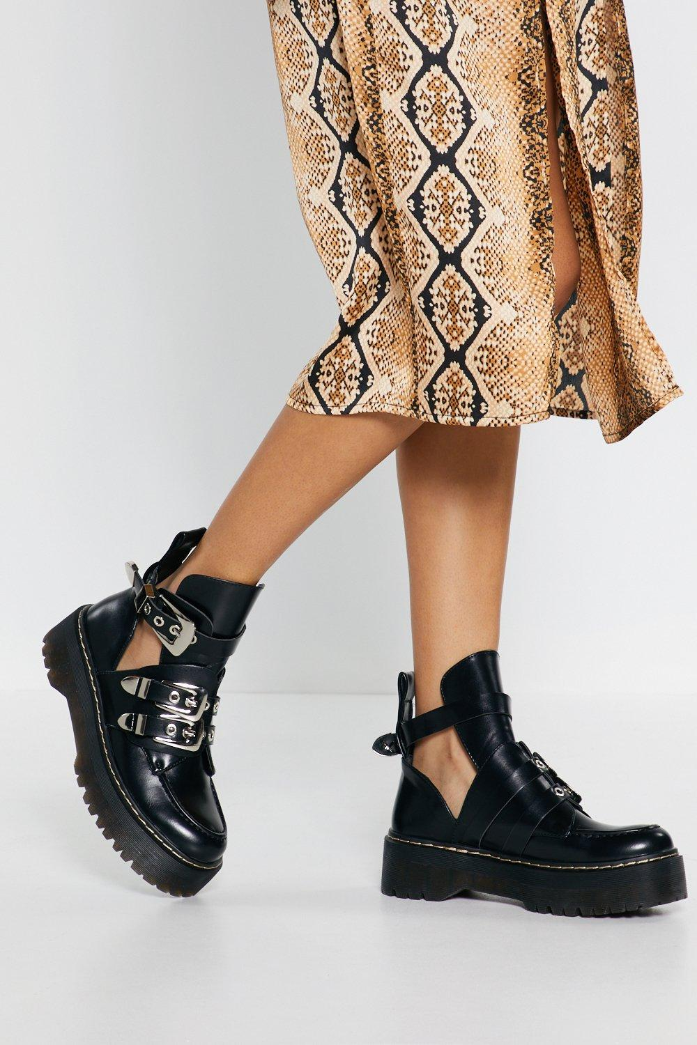 Cut Out Ankle Boots | Nasty Gal