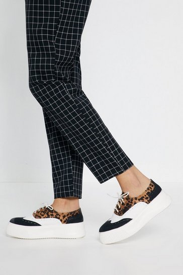 Womens Going Brogue Leopard Platform Brogues