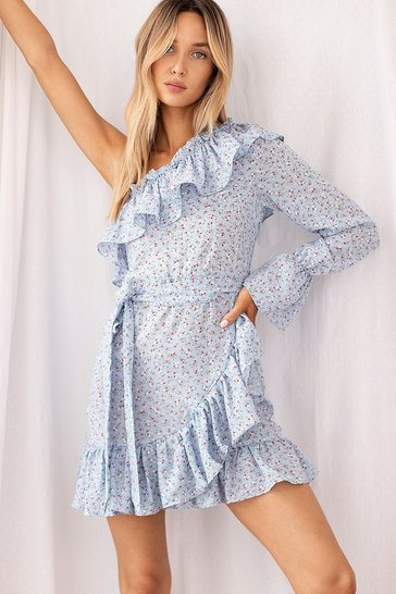 Blue Our Options Are Open Floral Dress