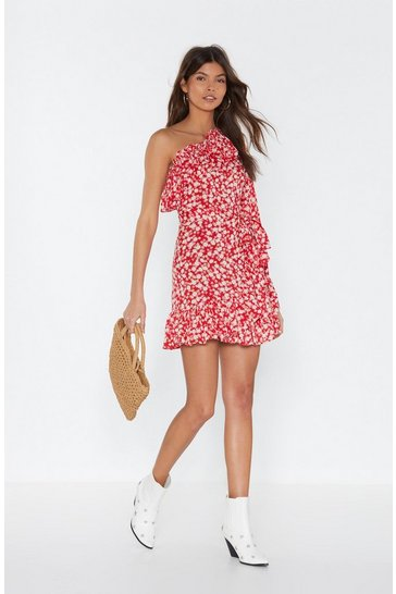 Red Our Options Are Open Floral Dress