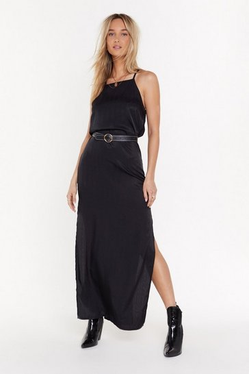 Womens Black Back to You Open Back Maxi Dress