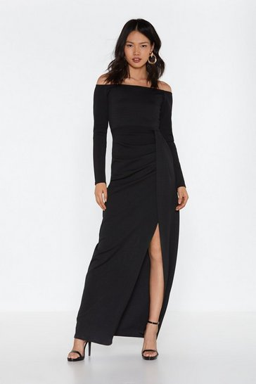 Womens Black Great Lengths Wrap Maxi Dress