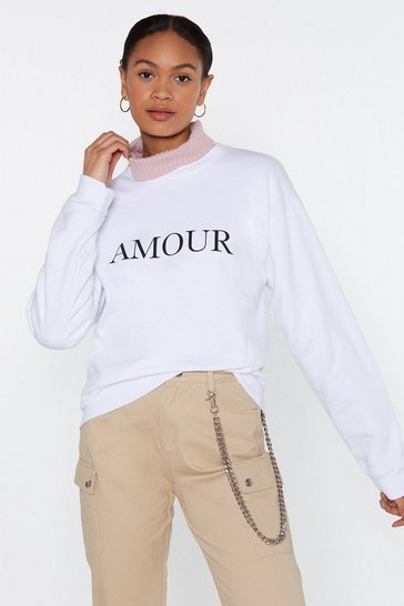 Womens White Amour Sweat