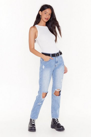 Distress With the Best Ripped High-Waisted Jeans, Light blue