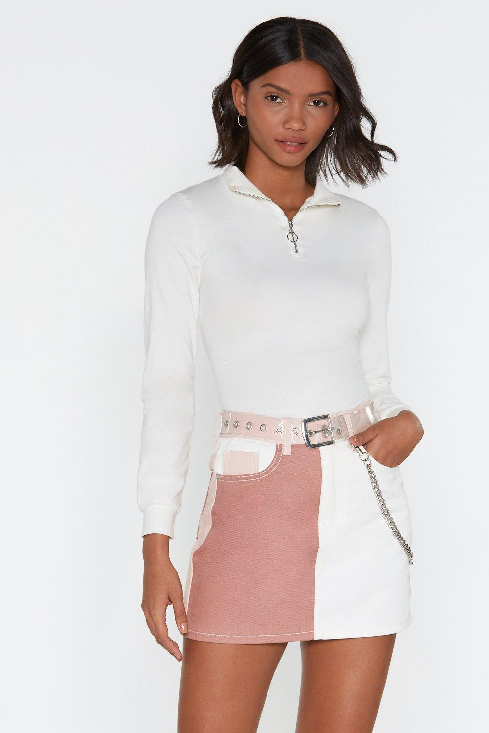Patch You Later Mini Skirt by Nasty Gal