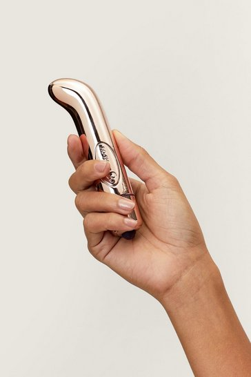 Rose gold Angled Shaft Metallic Vibrator