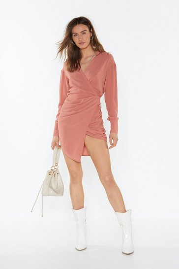 Womens Apricot Love Shirts Wrap Dress