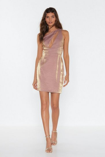 Rose Like a Diamond One Shoulder Mini Dress