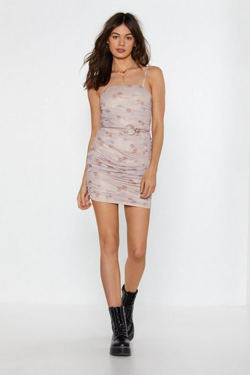 Womens Blush Looking Like an Angel Cherub Mini Dress