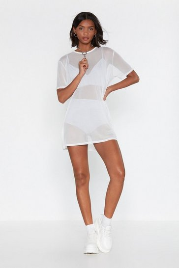 Ivory See Clearly Now Mesh Dress