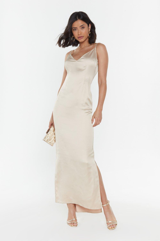 Top Table Material Satin Maxi Dress | Nasty Gal