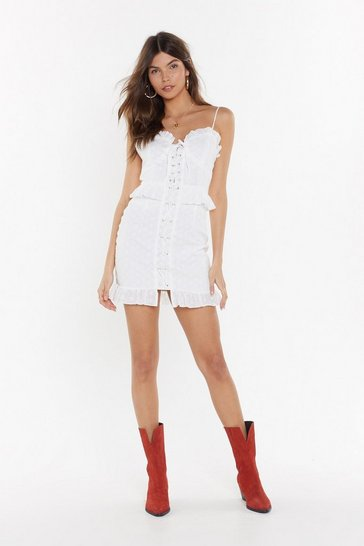 Womens White Sew Sue Me Broderie Anglaise Dress
