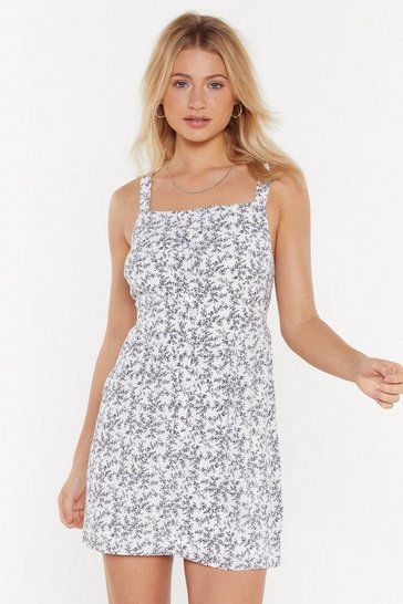 Womens White Thistle Do Nicely Floral Mini Dress