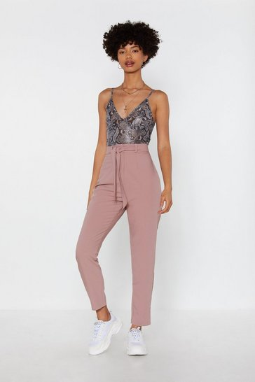 Womens Rose We Really Tied Tapered Pants