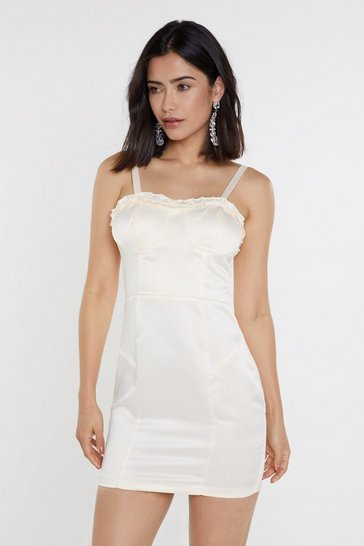 Womens Ivory I Got You Babe Bustier Mini Dress
