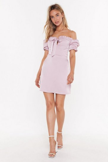 Lavender Sleek Me Out Satin Mini Dress